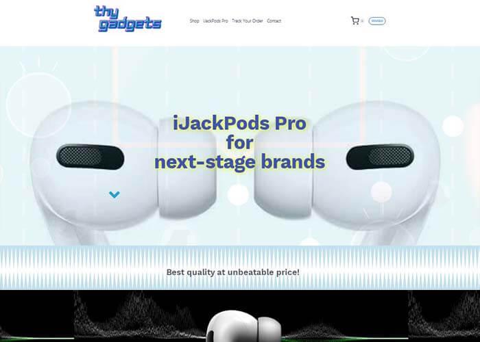 innoweber.com 2021 best website design-thygadgets.com網頁設計推介